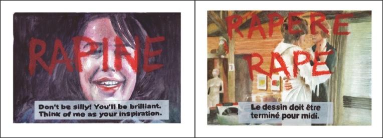 « Rape – Rapere - Rapine » Aquarelles sur papier, 24x64cm, 2015