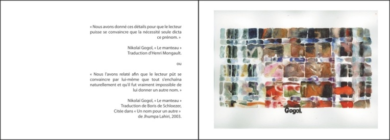 "Clément Collet-Billon, ""Le manteau"", de Nikolaï Gogol/ ""The namesake"" de Mira Naïr, watercolors on paper, 24x64 cm, 2014"