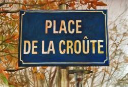 Clément Collet-Billon, La place de la croûte, watercolors on paper, 75x110cm, 2015