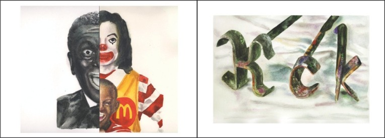 Clément Collet-Billon, Ronald Michael Minstrel/Branded Cimarron 2, watercolors on paper, 24x64 cm, 2010