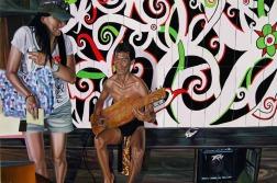 Clément Collet-Billon, Human Zoo, now ! Cultural Village, Sarawak, oil on canvas, 120x180 cm, 2012