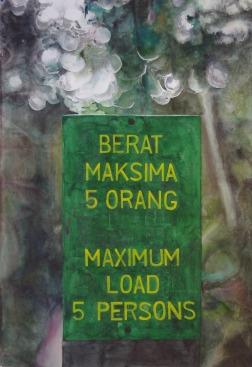 Clément Collet-Billon, Orang Outang, watercolors on paper, 110x75cm, 2009
