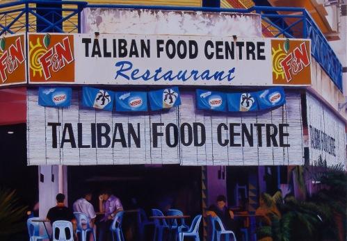 Clément Collet-Billon, Taliban Food Cender, oil on canvas, 120x180cm, 2011