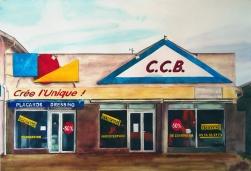 Clément Collet-Billon, « Paraphe les publicités mensongères », watercolors on paper, 75x110cm, 2019